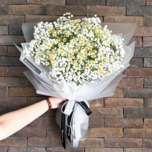 ช่อดอกไม้แสดงตวามยินดีเลื่อนตำแหน่ง